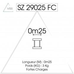 ASD - Carrée 290 FC - 0,25m