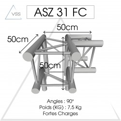 ASD - Carrée 290 FC - 3 départs pied